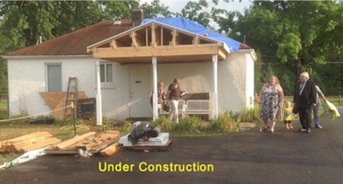 New Porch Under Construction in 2013