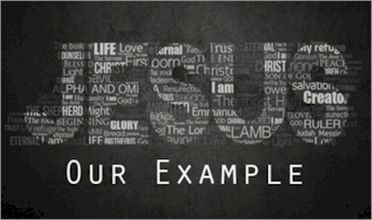 Jesus Christ set the perfect example in word and conduct. Now we need to follow His example and be a good example to the world, bringing them to Christ.