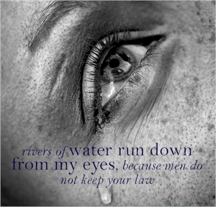 "How do you feel about the lost? Do you feel ""Rivers of waters run down mine eyes, because they keep not thy law."" (Psalm 119:136) - Are you urged to action?"